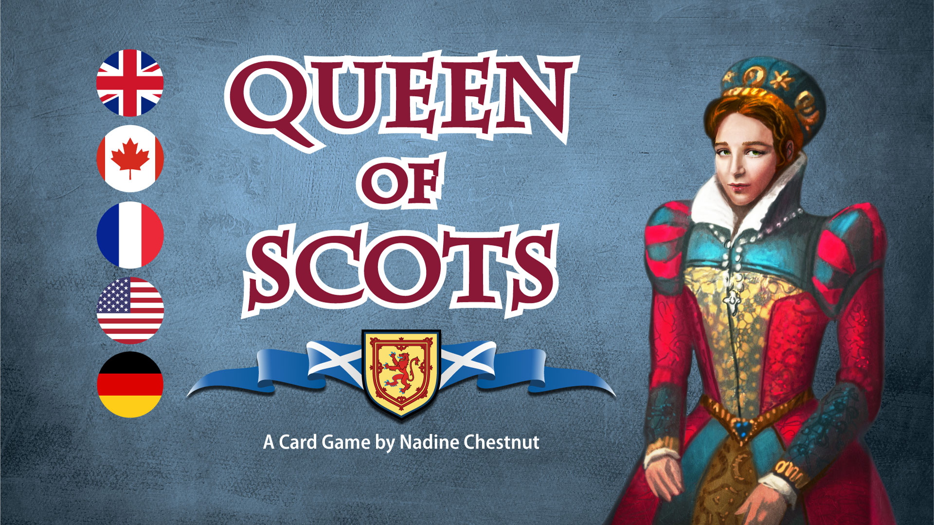 """Tin Robot Games launches """"Queenf Scots: The Card Game"""" on crowd-funding platform Kickstarter"""