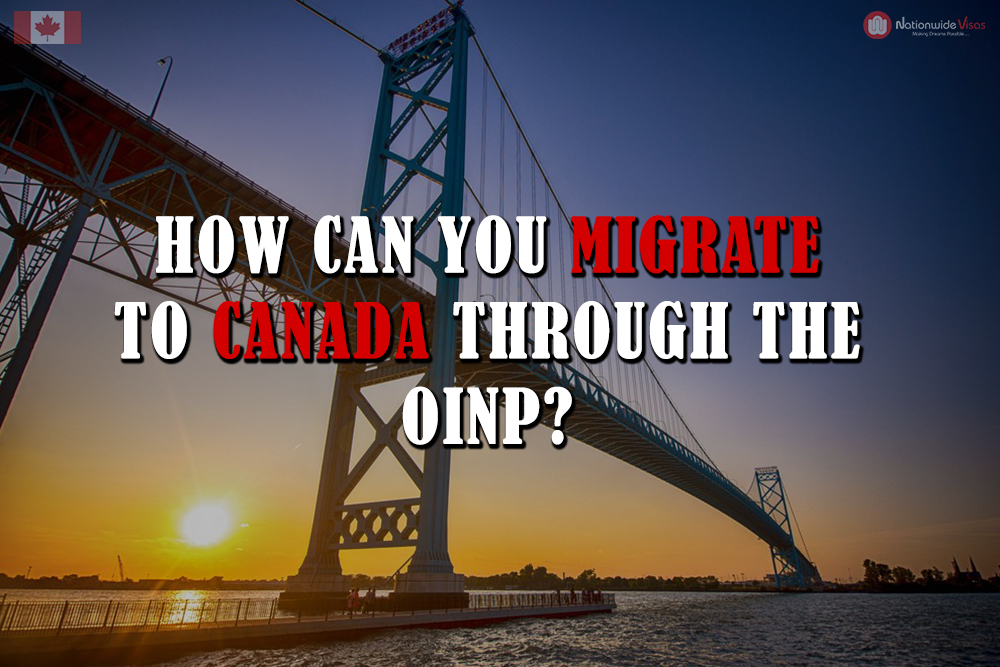 How can you migrate to Canada through the OINP?