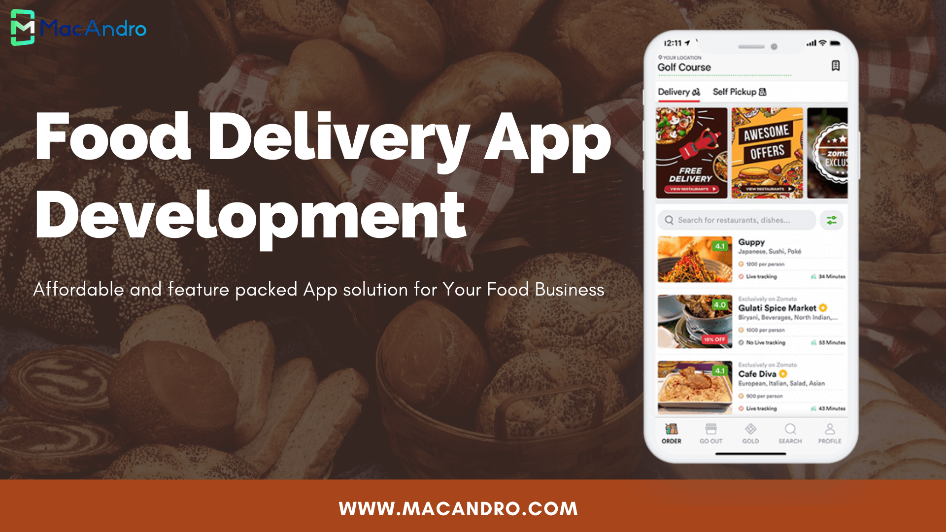 MacAndro Introduces Advanced Food Delivery App with premium Features