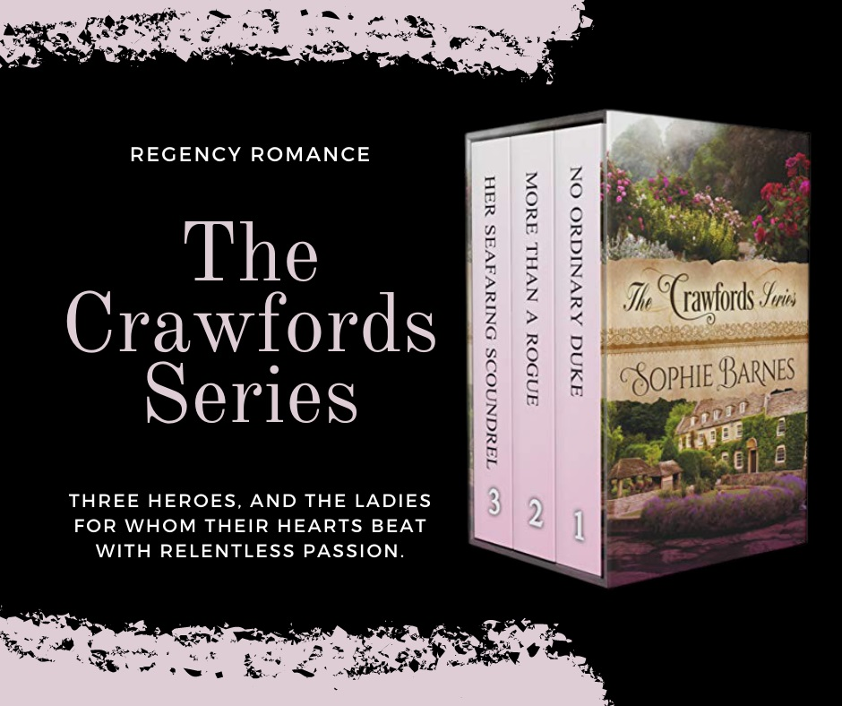 Author Sophie Barnes Releases New Regency Romance - The Crawfords Series