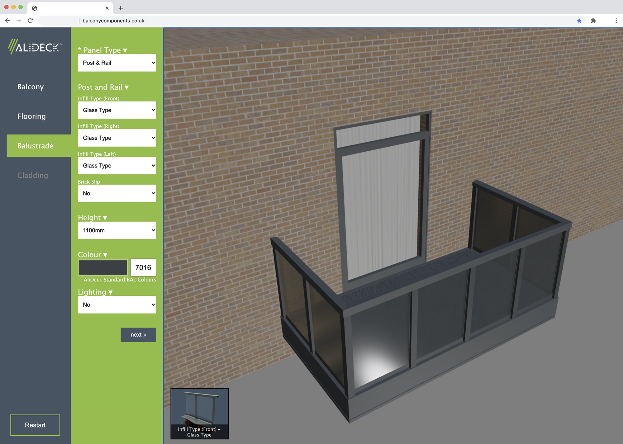 Aluminium decking experts AliDeck launch balcony configurator tool for architects