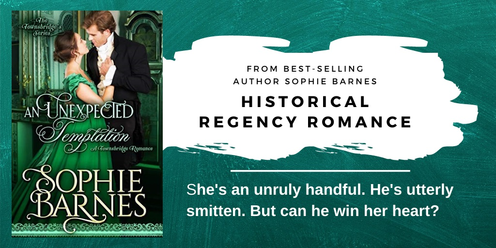 Sophie Barnes Releases New Historical Regency Romance - An Unexpected Temptation
