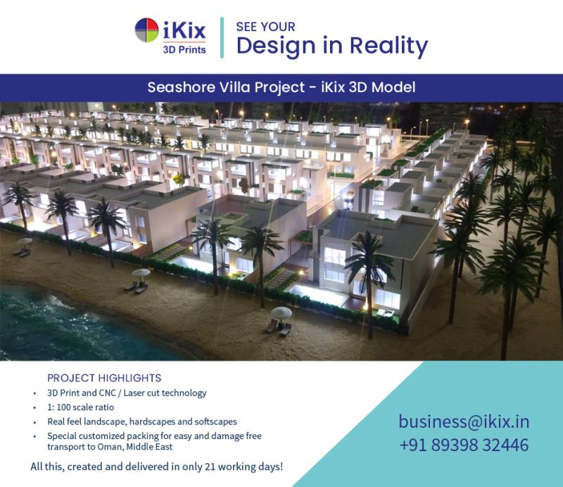 iKix 3D Prints – Realistic 3D Architectural Model Makers and Creators in India