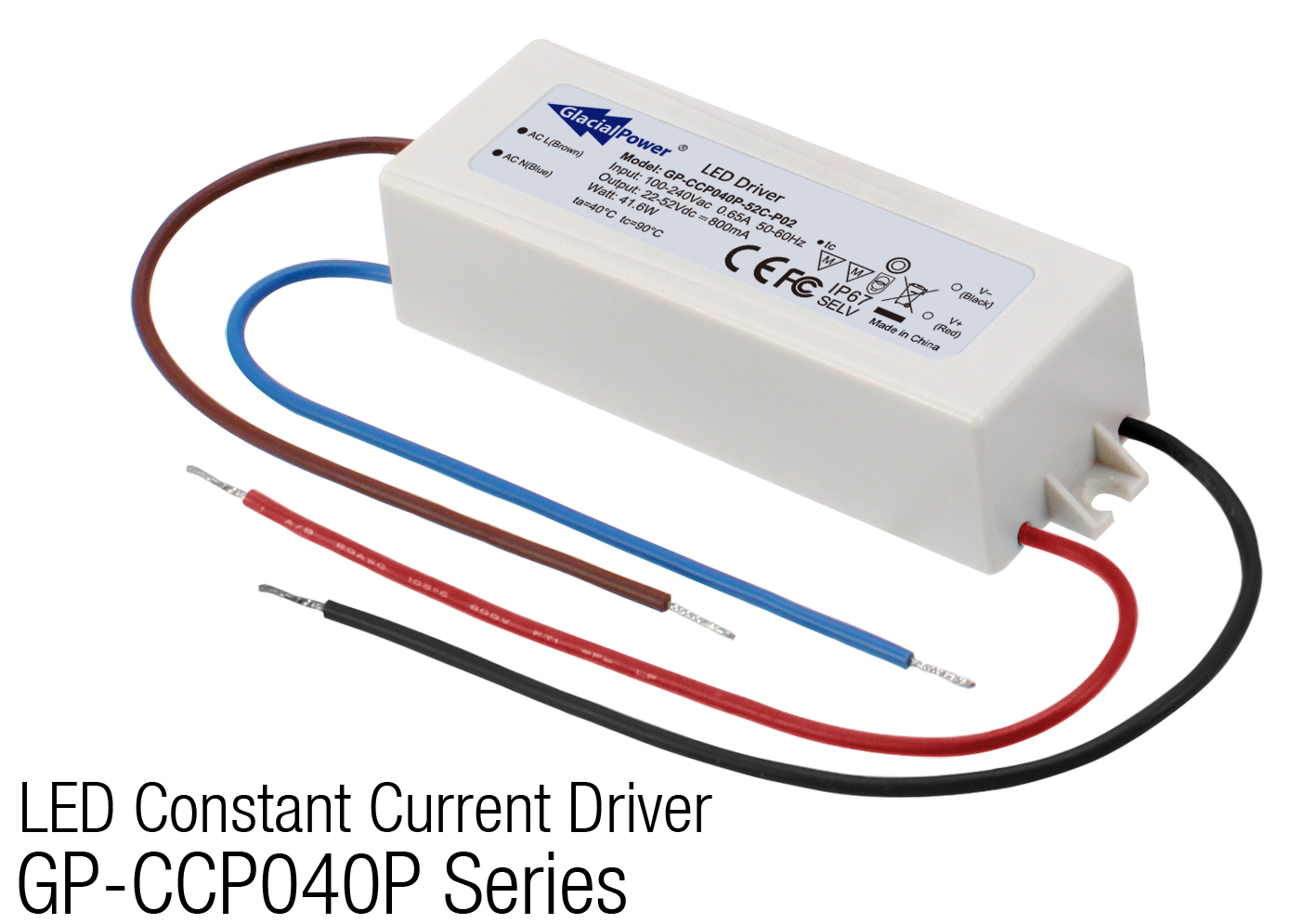 GlacialPower Launches GP-CCP040P LED Constant Current Driver Series which focus on the 36V CoB market