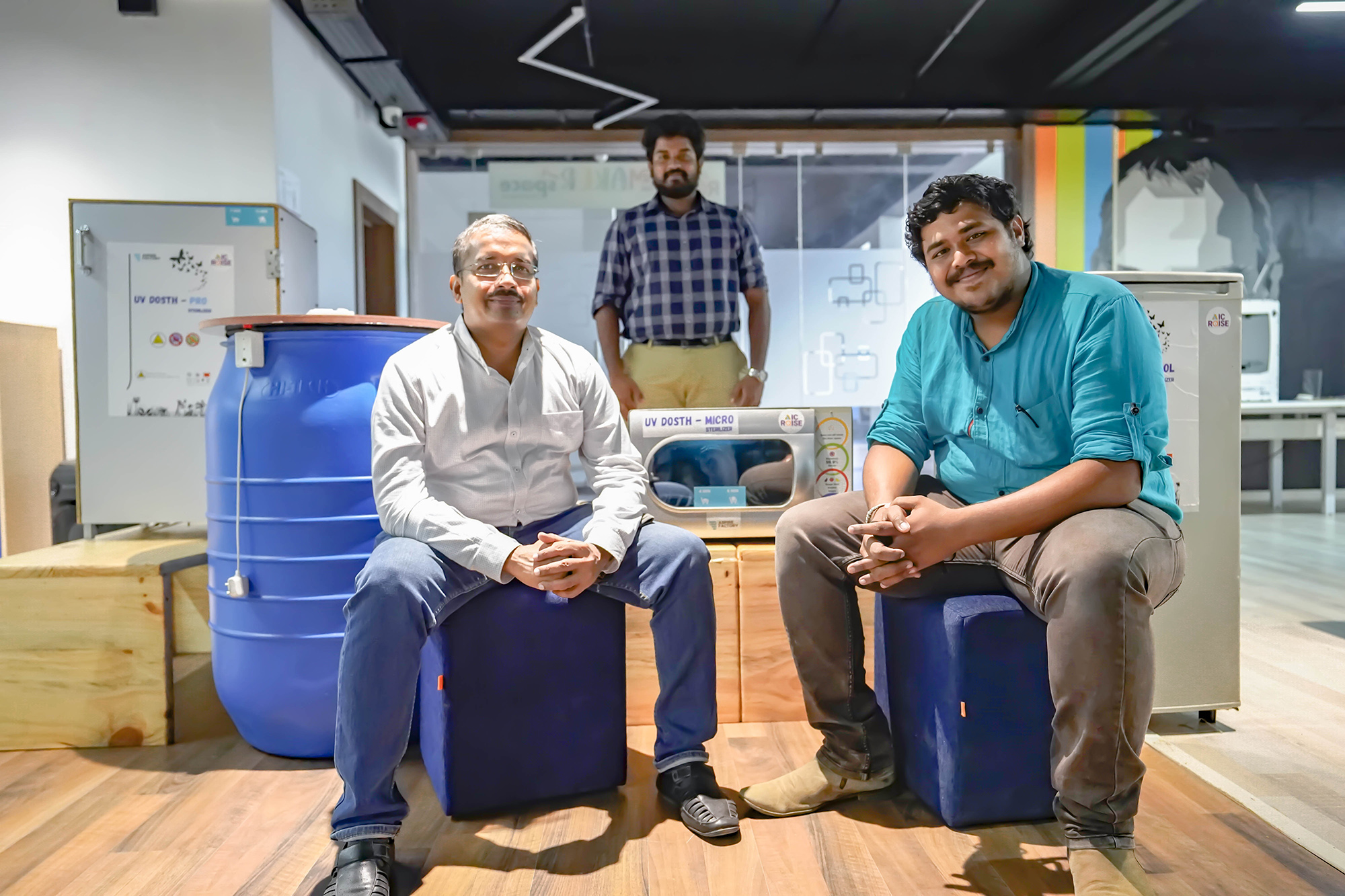 Aspire factory AIC Raise Backed Startup world's most cost-effective sanitisation chamber from Coimbatore