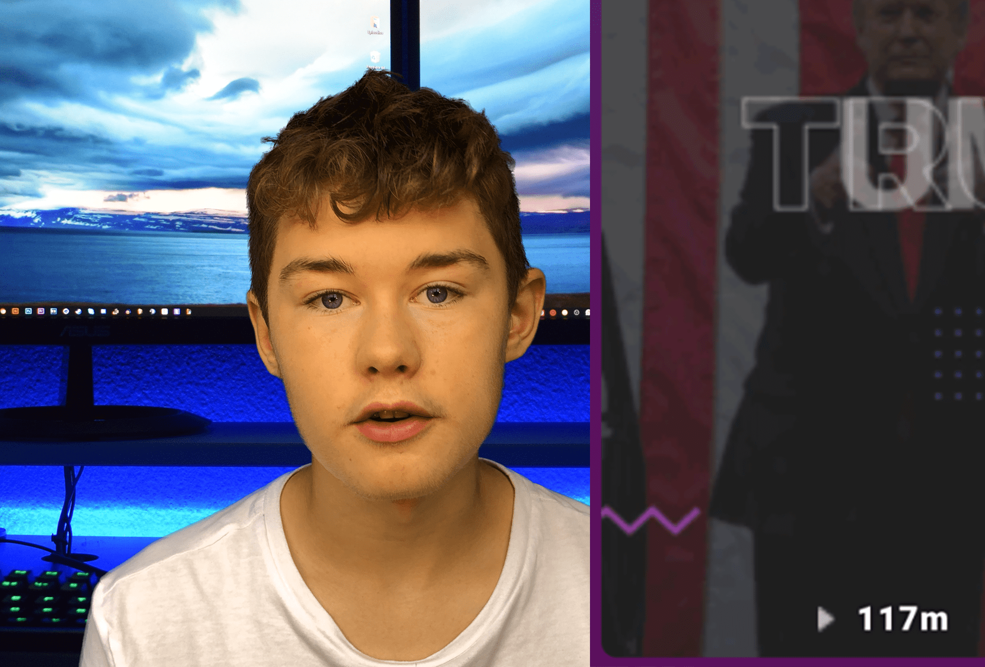 YouTuber realjamesh view bots Donald Trump 100 million views on Triller