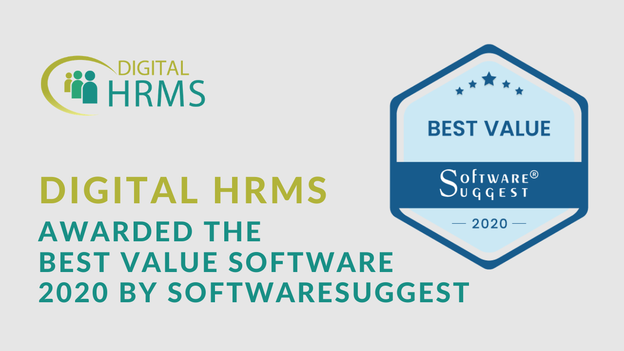 The Digital Group Announces Best Value Software 2020 Award for Digital HRMS