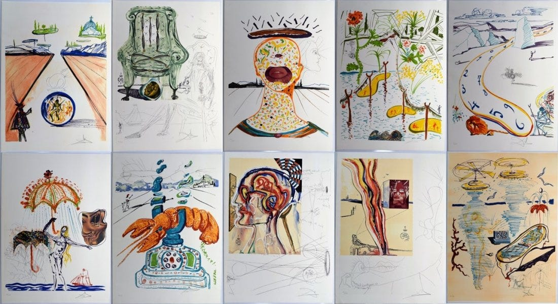 Signed Impressions by Salvador Dali and A Painting Attributed to Joos de Momper Headline Auction Life's Feb. 17th Sale
