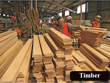 What are timber based materials?