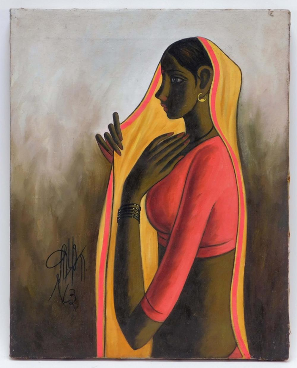 Bruneau  Co.'s online-only Antiques  Fine Art auction, July 23, will kick off with vibrant paintings by Indian artists