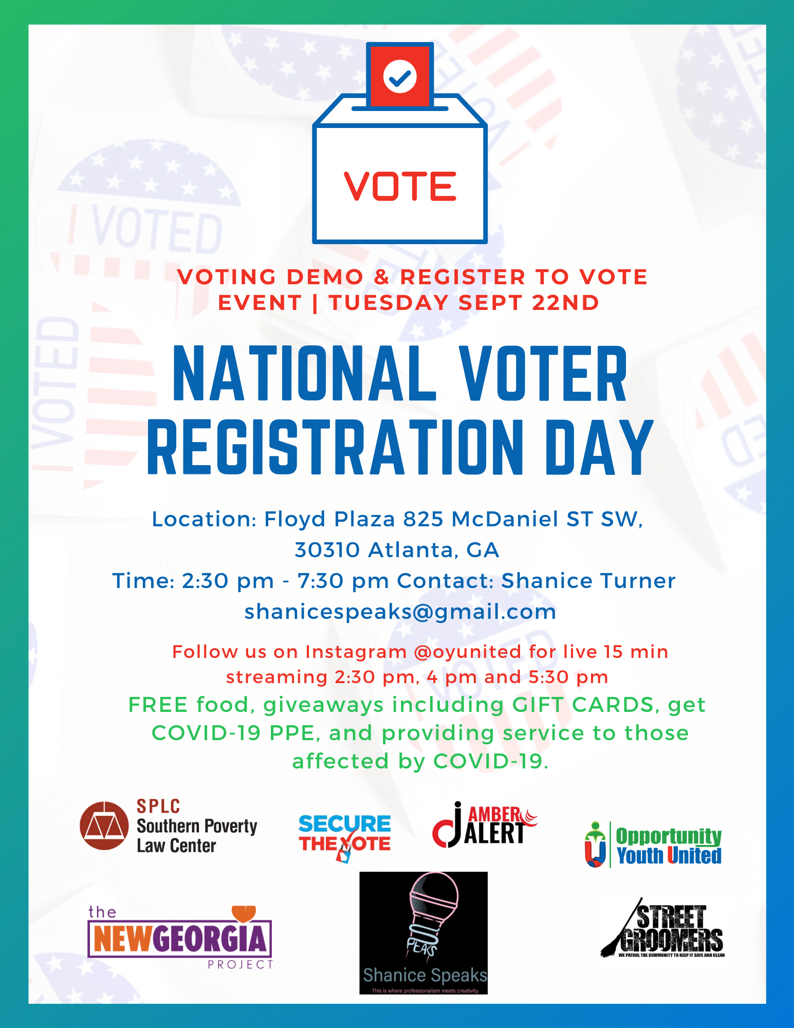 September 22nd National Registration Voting Day