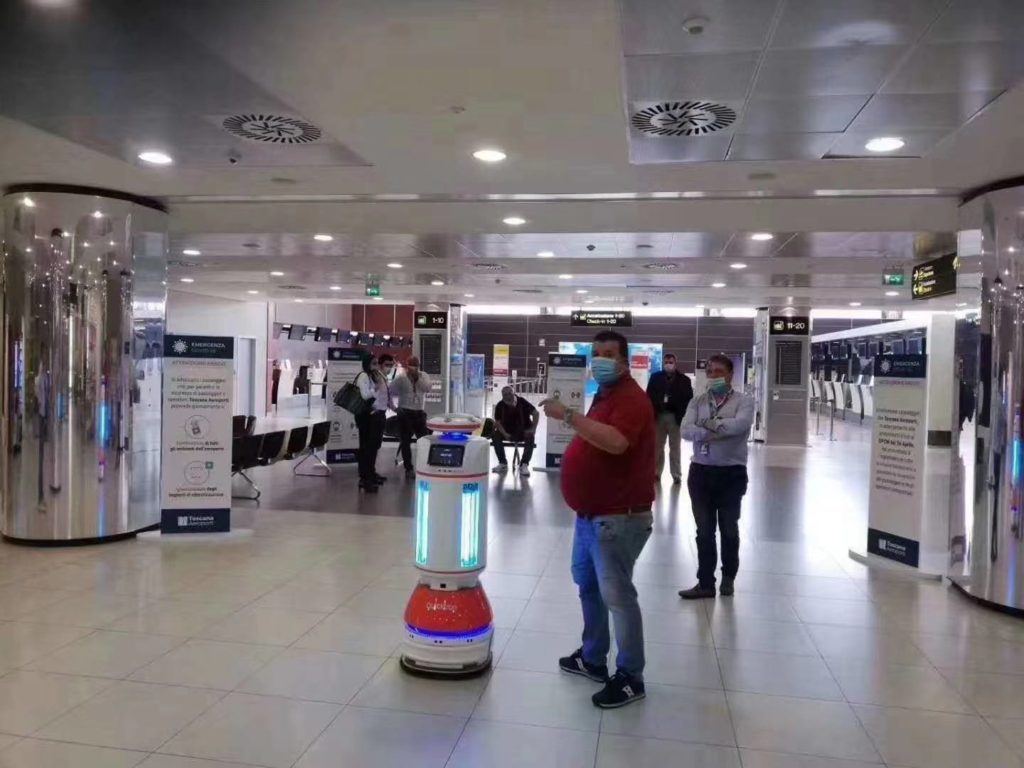 UVC Disinfection Robot in Milan Malpensa Airport