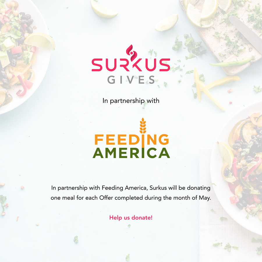 Surkus app donates meals to Feeding America throughout May