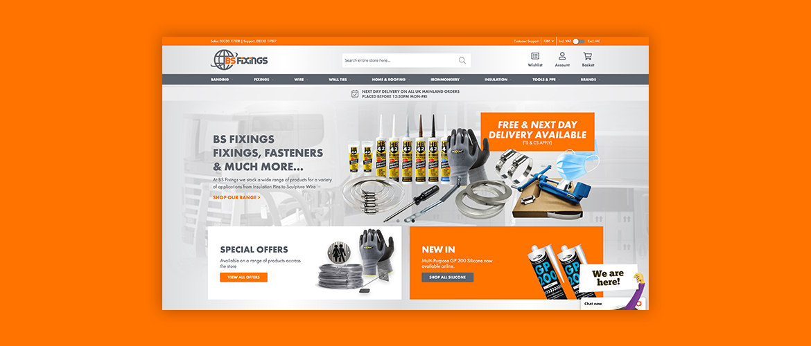 BS Fixings Launches exciting new website.