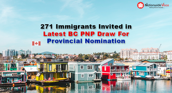 271 Immigrants Invited in Latest BC PNP Draw for Provincial Nomination