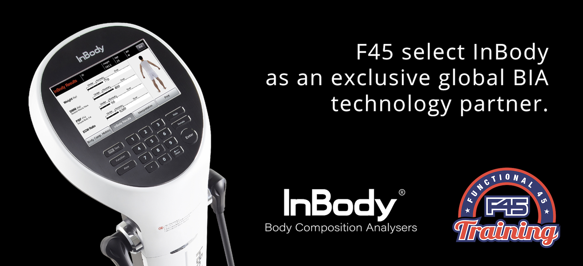 F45 select InBody as an exclusive global BIA device partner.