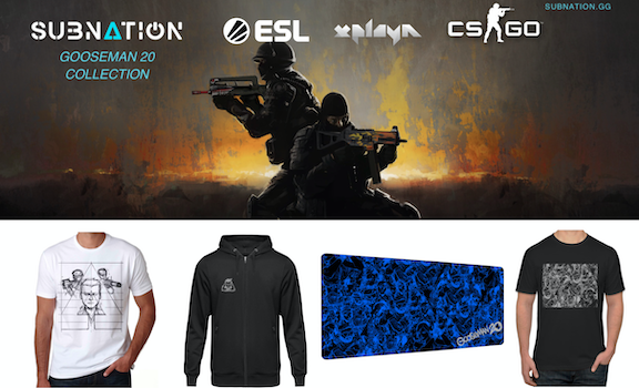 SUBNATION & Xplayn Launch Gooseman20 Merchandise Collection With ESL Shop At The 2020 Intel® Extreme Masters Katowice CS:GO