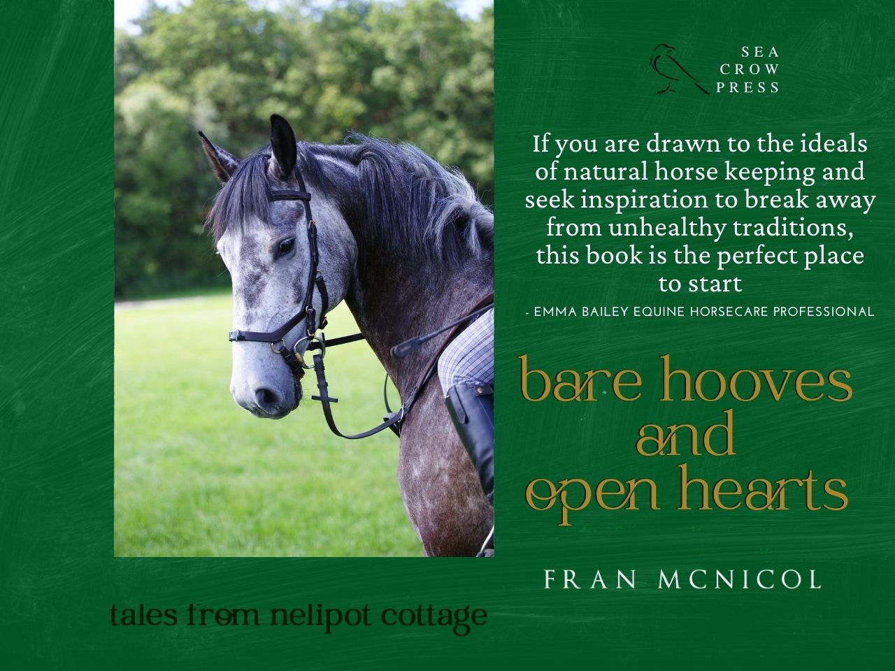 Sea Crow Press Releases New Equestrian Book - Bare Hooves and Open Hearts:  Tales From Nelipot Cottage