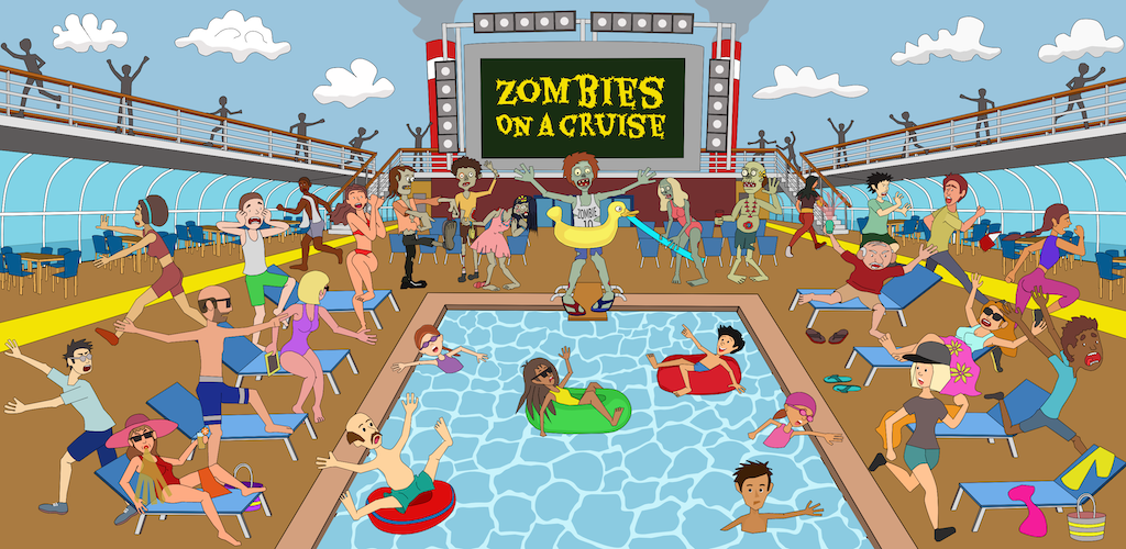 Zombies on a cruise - A fun survival strategy game