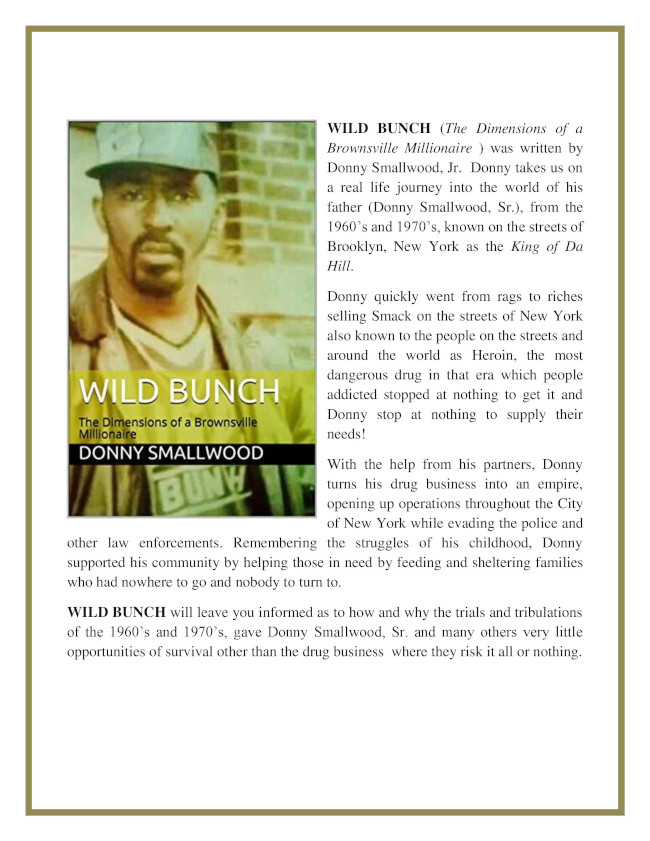 Book Wild Bunch: The Dimensions of a Brownsville Millionaire Who Gave It All To the Streets of Brownsville, Brooklyn