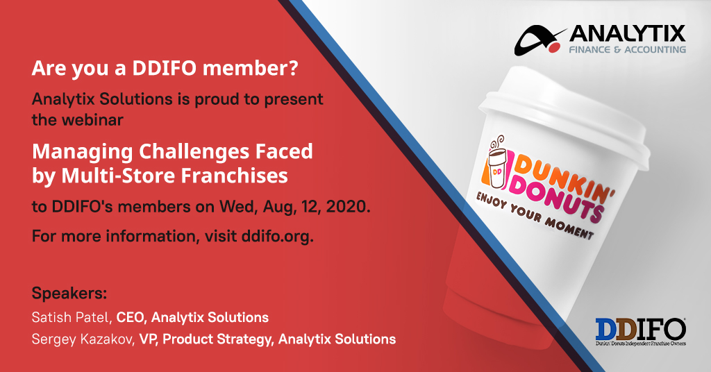 Analytix to Host DDIFO Webinar on Managing Challenges Faced by Multi-Store Franchisees