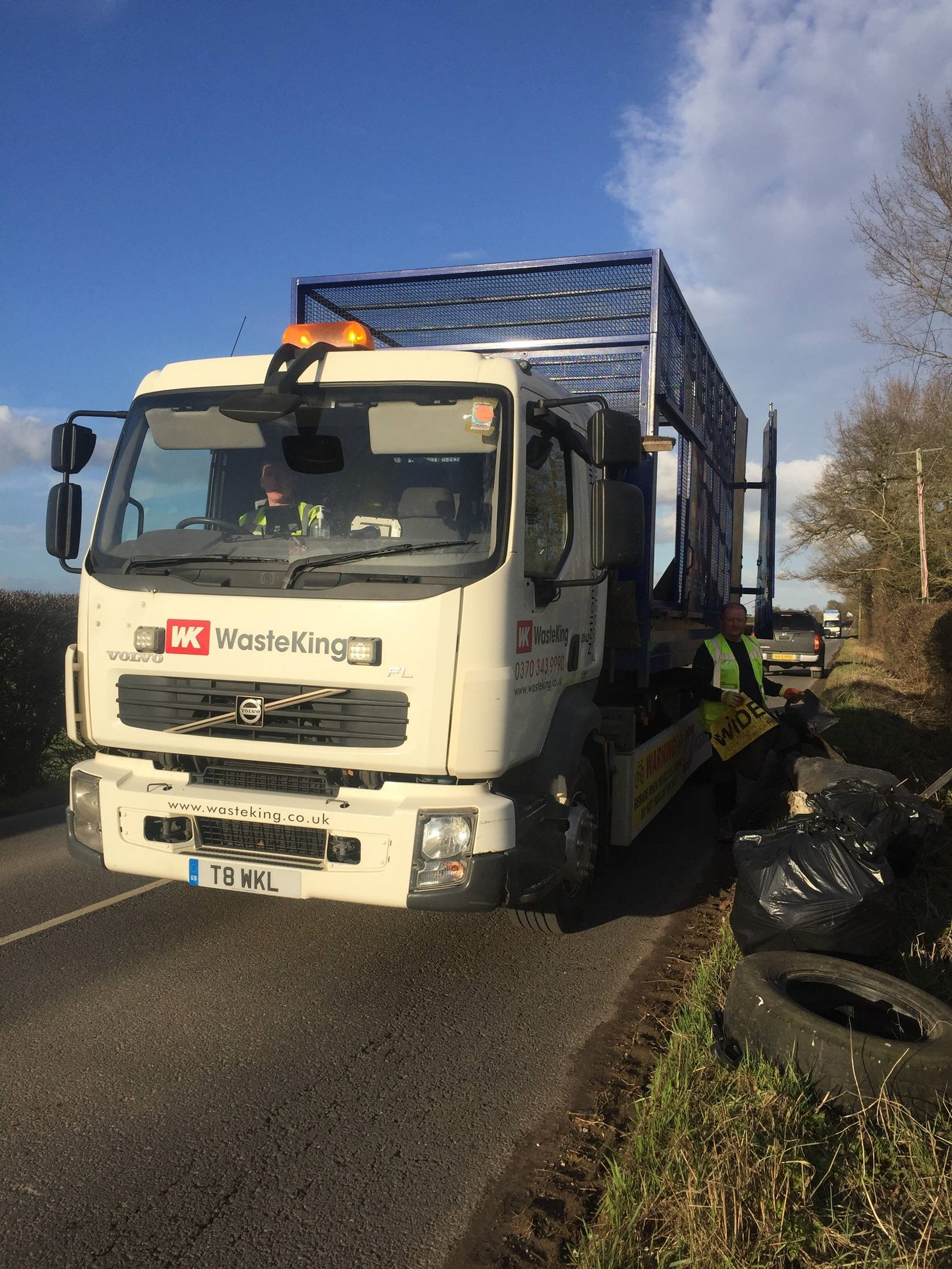 Waste King removes 180 sacks of waste after roadside litter-pick