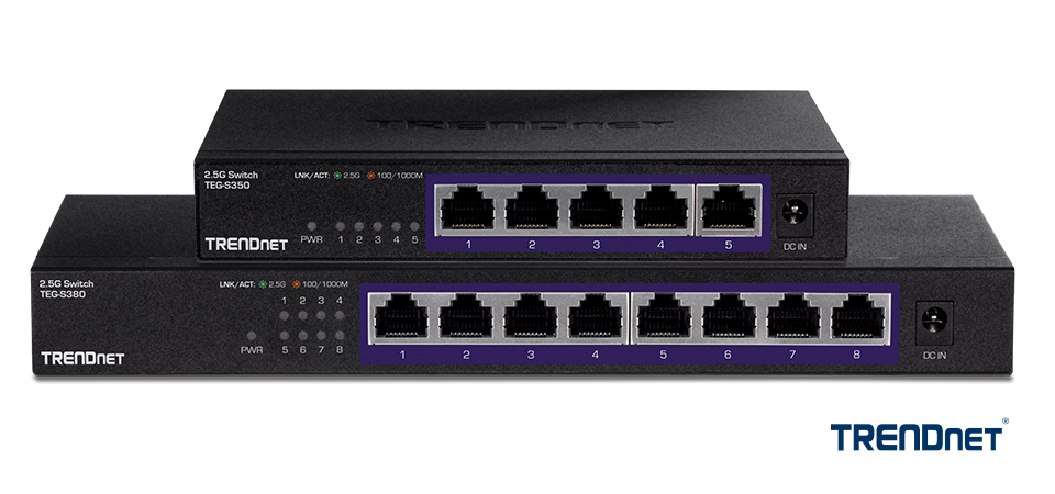 TRENDnet Debuts 2.5G Unmanaged Network Switches