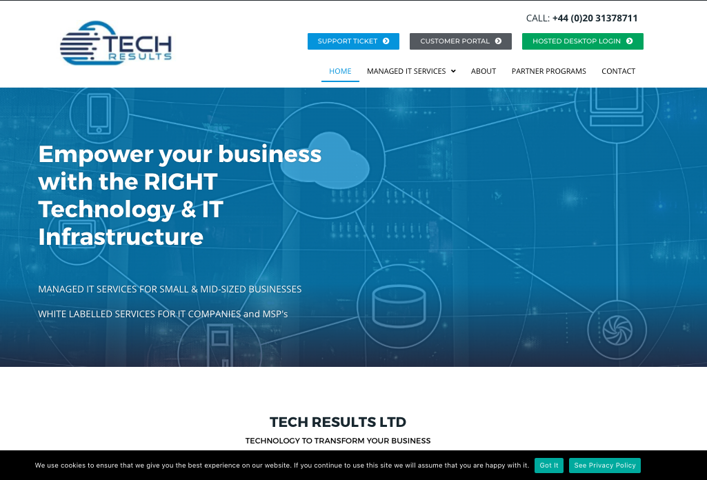 Tech Results Unveils Its Redesigned Website