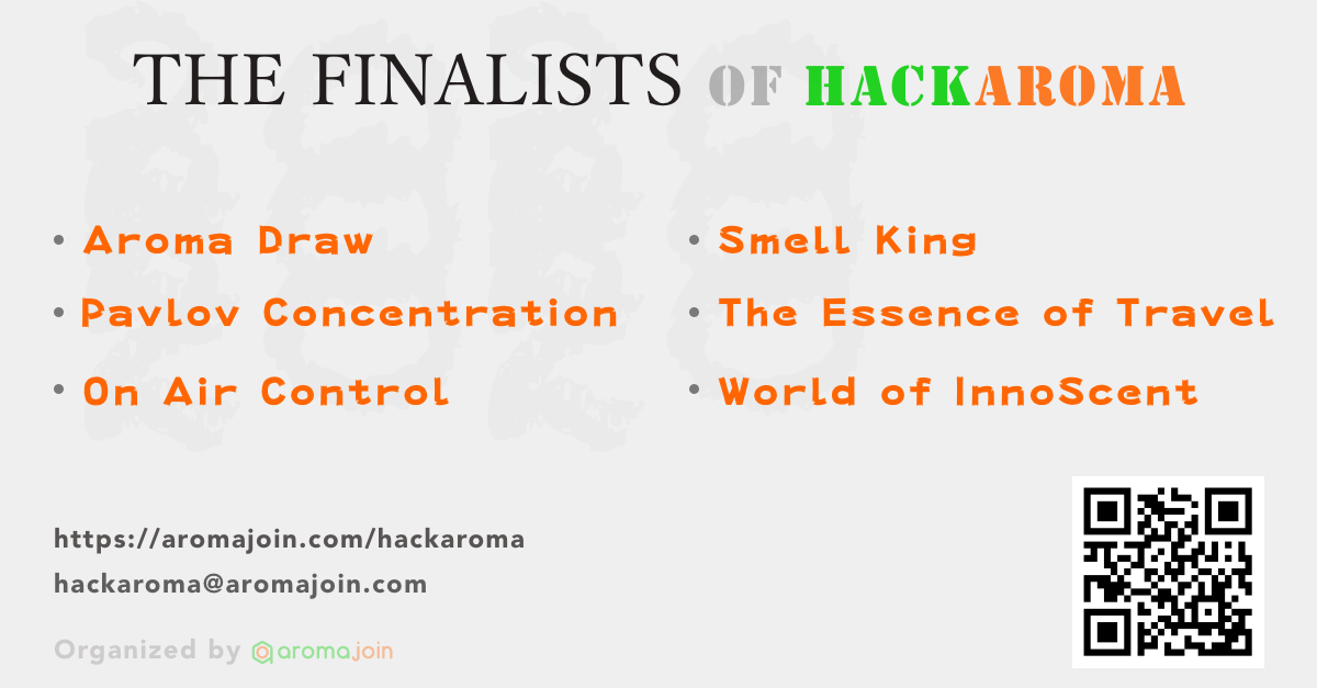 Aromajoin announces six finalists for its first ever digital scent-inspired hackathon, Hackaroma