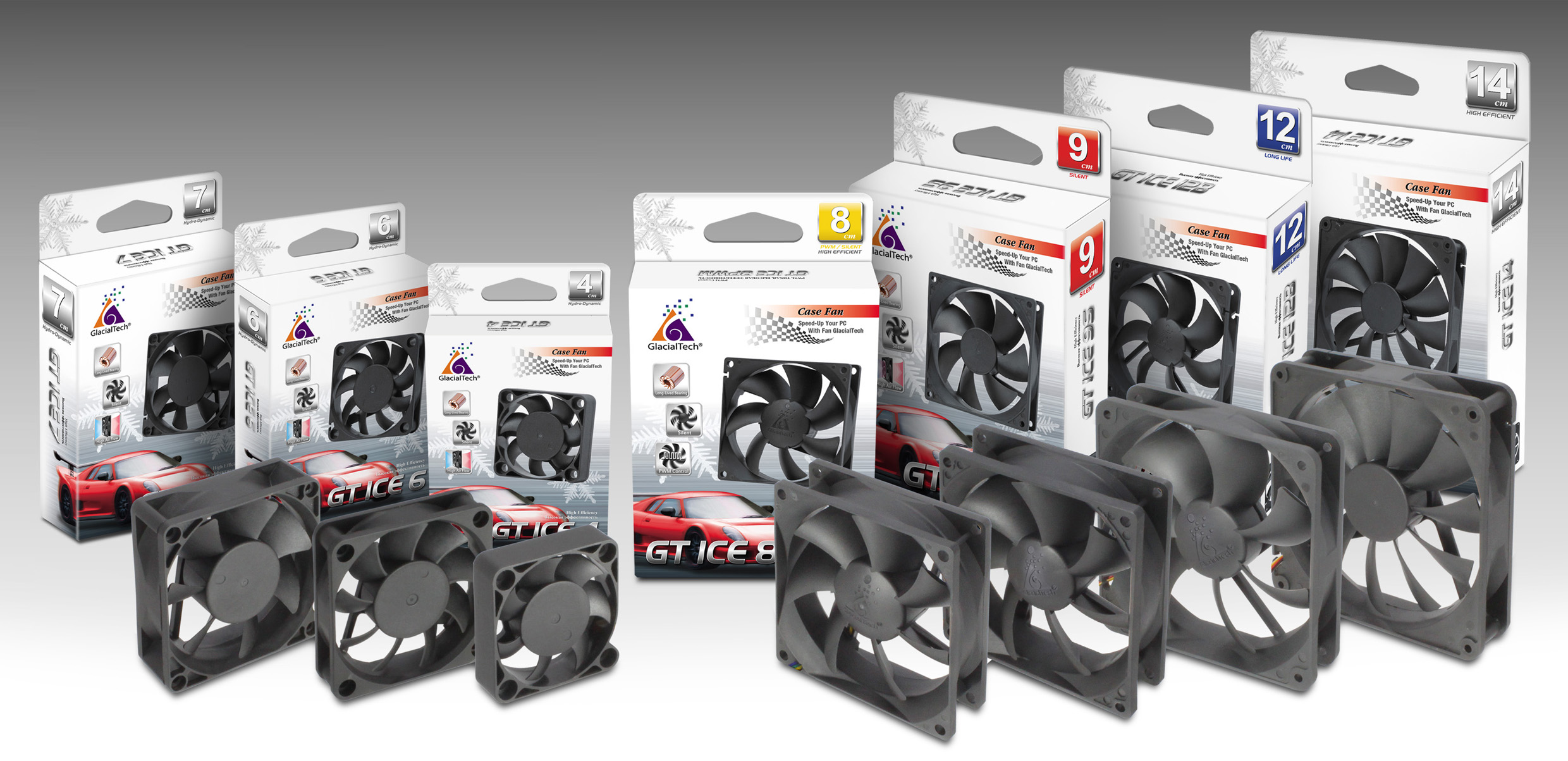 GlacialTech Reorganizes the PC Case Fan Product Line for PC Assemblers and DIY Market