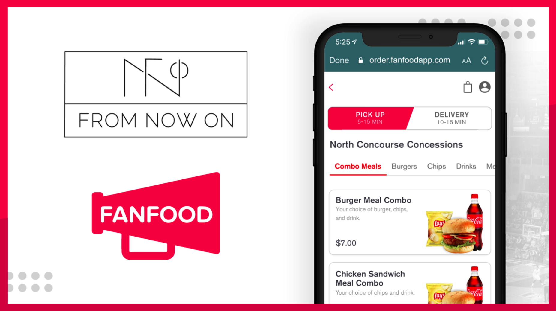 From Now On Partners with FanFood Mobile Ordering Platform to Offer One-Stop-Shop Solution For Contactless Game Day