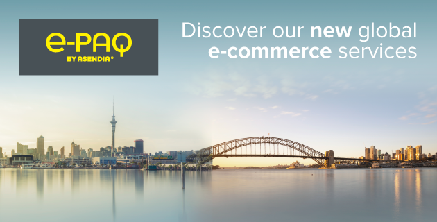 Asendia new e-PAQ product range will empower Oceanian businesses to succeed globally.