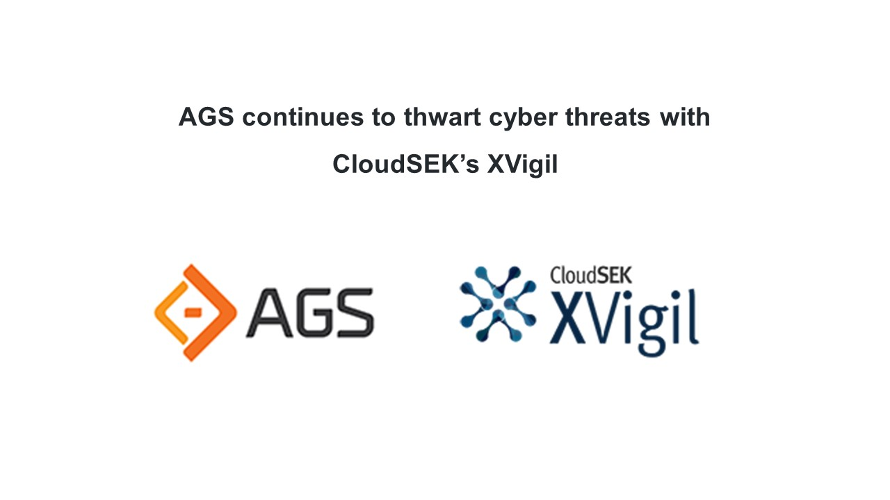 AGS continues to thwart cyber threats with CloudSEK's XVigil