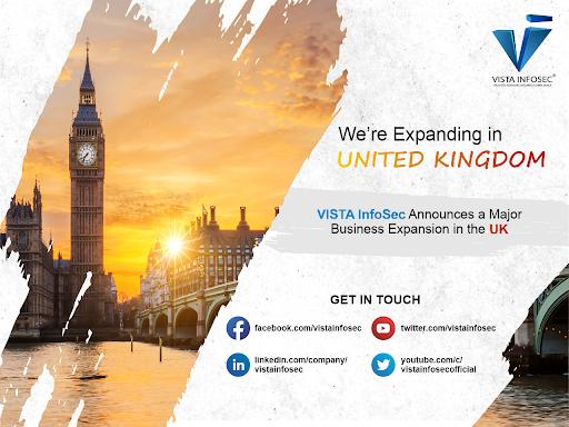 VISTA InfoSec Announces a Major Business Expansion in the UK