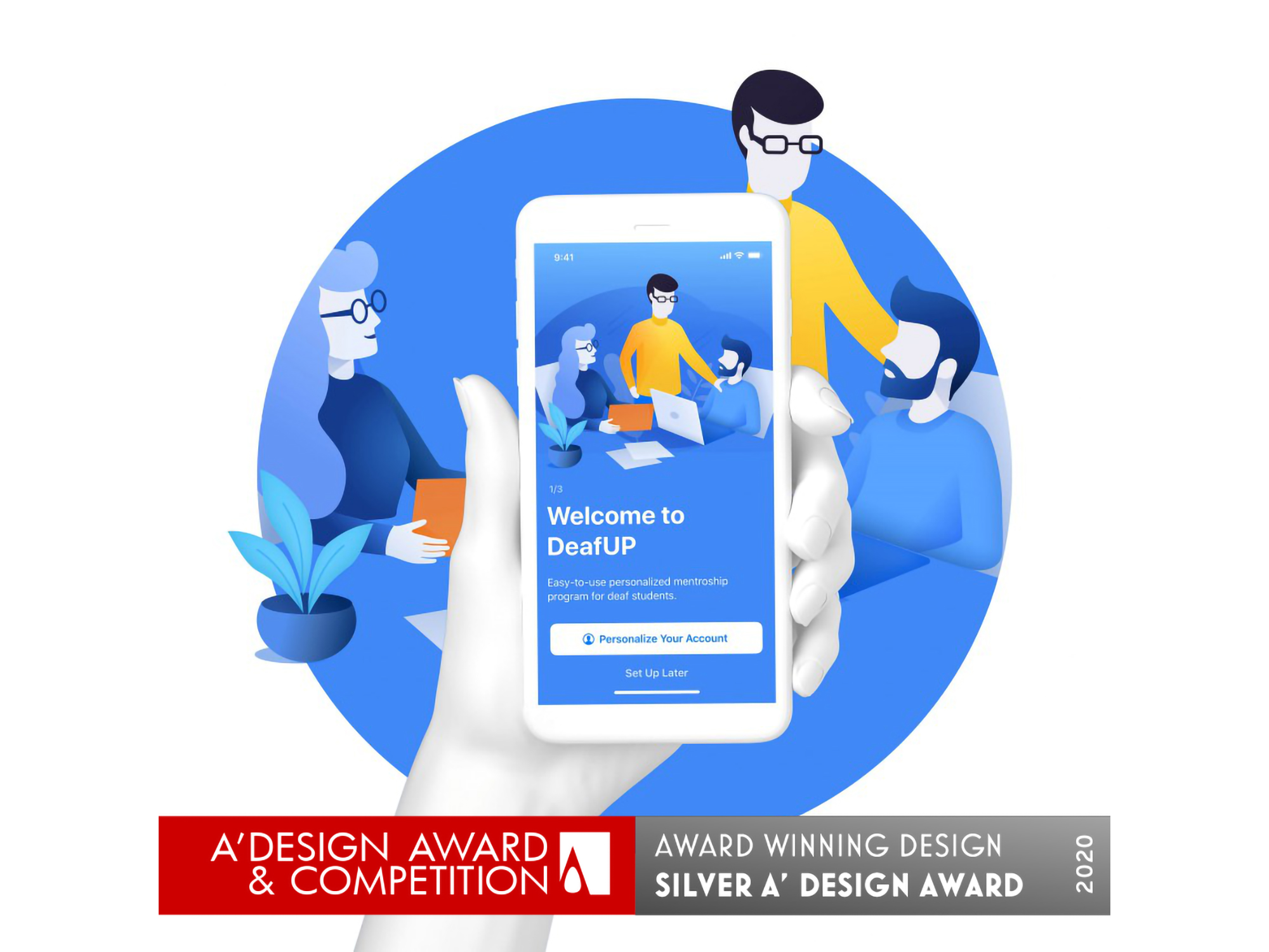 Brandly Collective wins A'Design Award for the DeafUP application