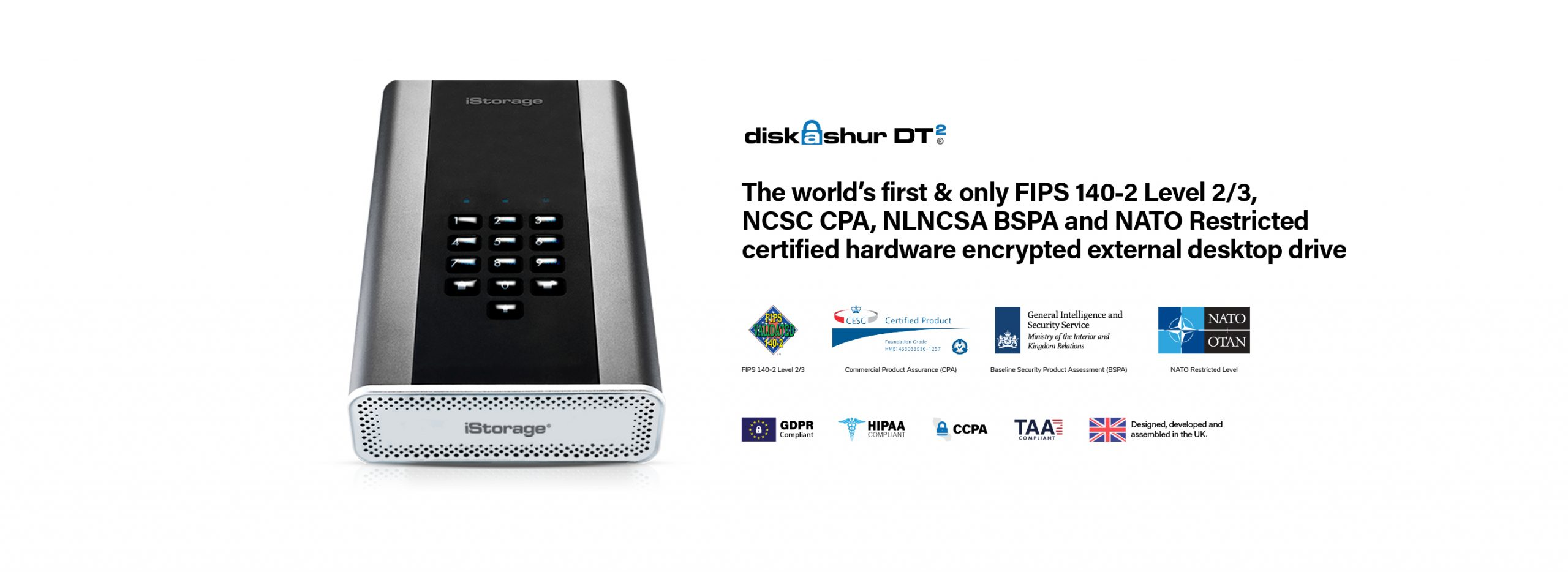 Secure 18 Terabytes' Worth of Data With iStorage's PIN Authenticated, Hardware Encrypted HDD
