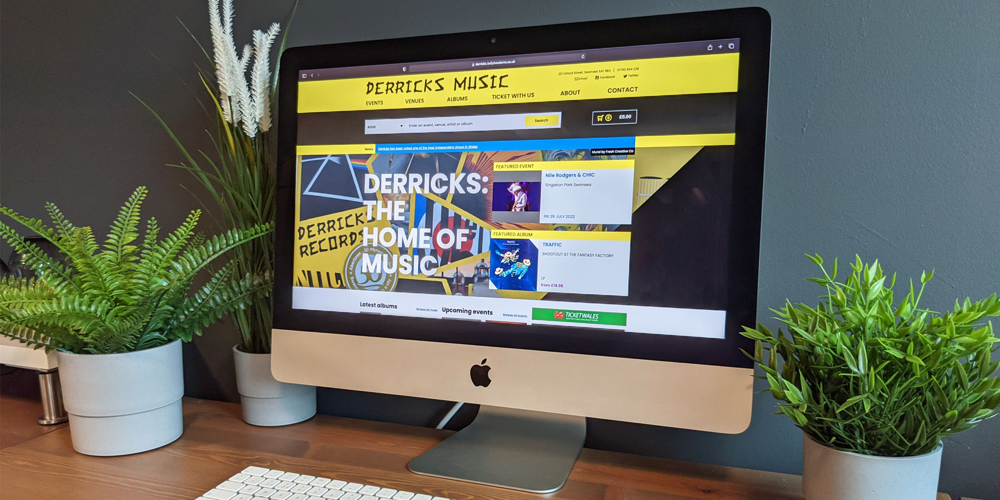 Swansea's Oldest Record Store Derricks Music Launches New Website Developed by Ballyhoo