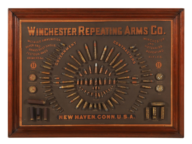 1884 Winchester Cartridge Display Board Rings Up $100,300 in Miller & Miller's Canadiana & Sporting Auction