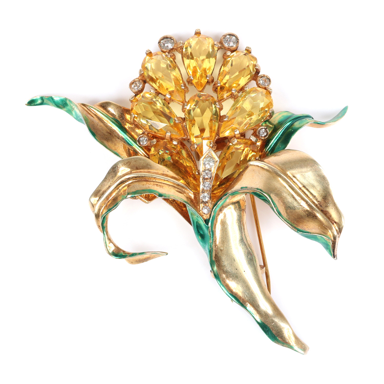 Single-owner lifetime collection of Eisenberg Originals, mostly vintage costume jewelry, will be auctioned Sept. 12