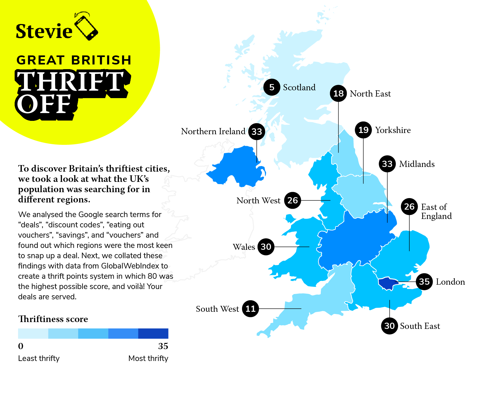 The South Triumphs in Battle of the UK's Thriftiest Cities Says Enjoy Stevie