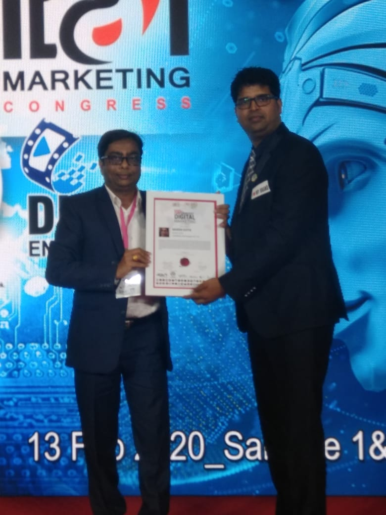 Fuel4Media CEO Naveen Gupta Recognized as '100 Smartest Digital Marketing Leaders' at The World Digital Marketing Congress.