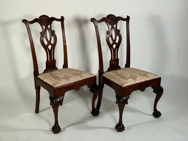 18th Century Chippendale Mahogany Side Chairs Sold for $33,210 in Neue Auctions Sale