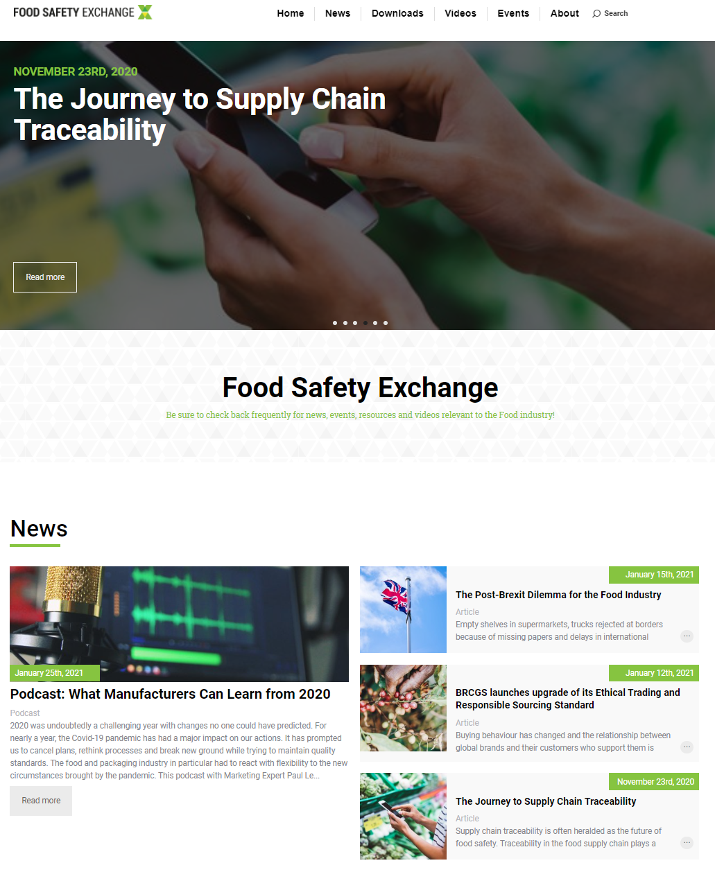 Educational Food Safety Exchange (FSX) Platform Calls for Engagement with Expert Forward Thinkers