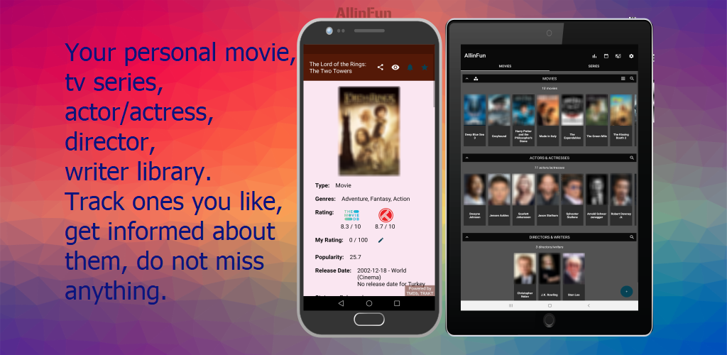 AllinFun - Track Movie, Tv series (Shows), Actor/Actress