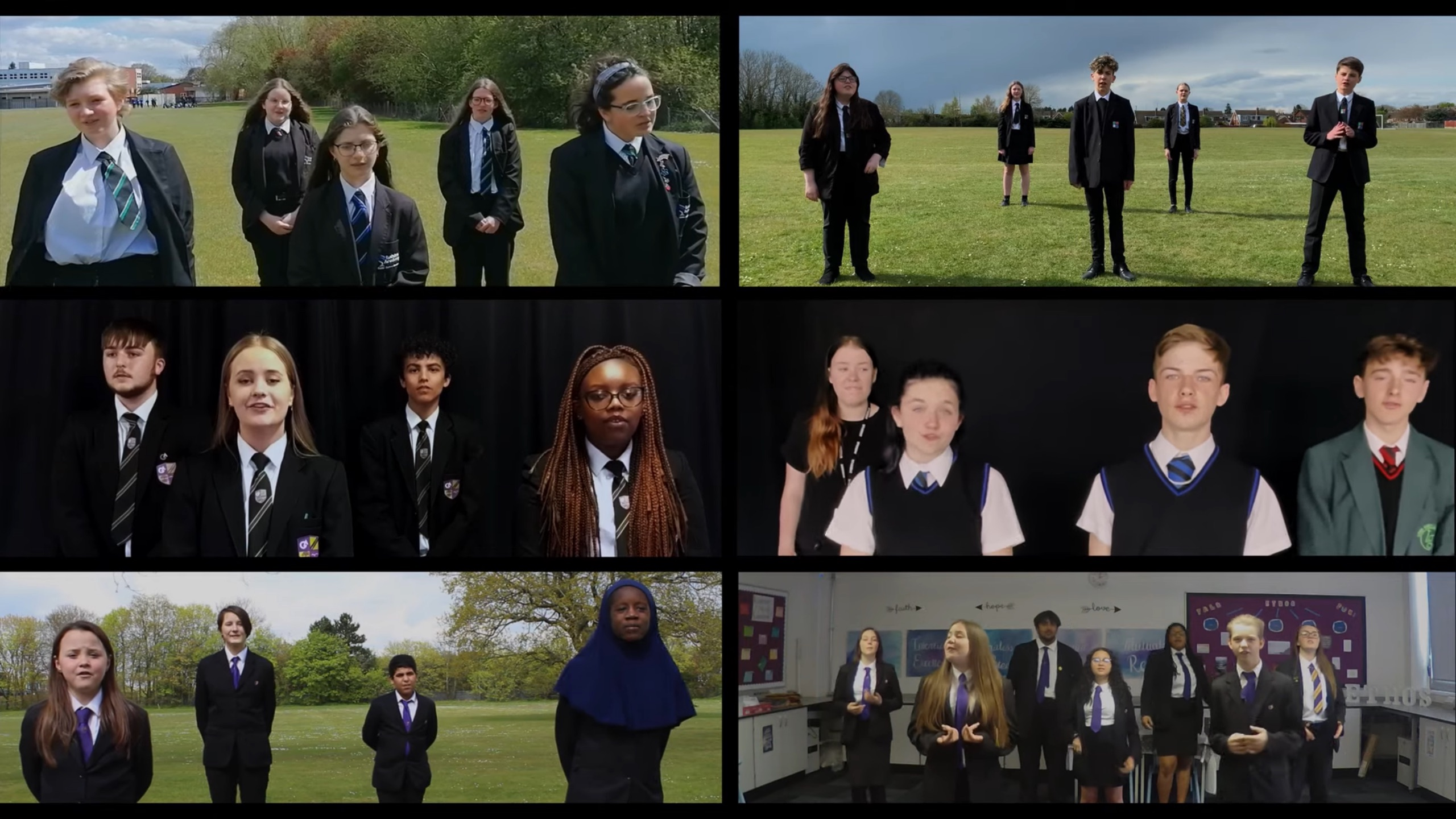 STUDENTS FROM 6 ACADEMY SCHOOLS RELEASE COLLECTIVE CHARITY SINGLE COVER OF 'TOGETHER'