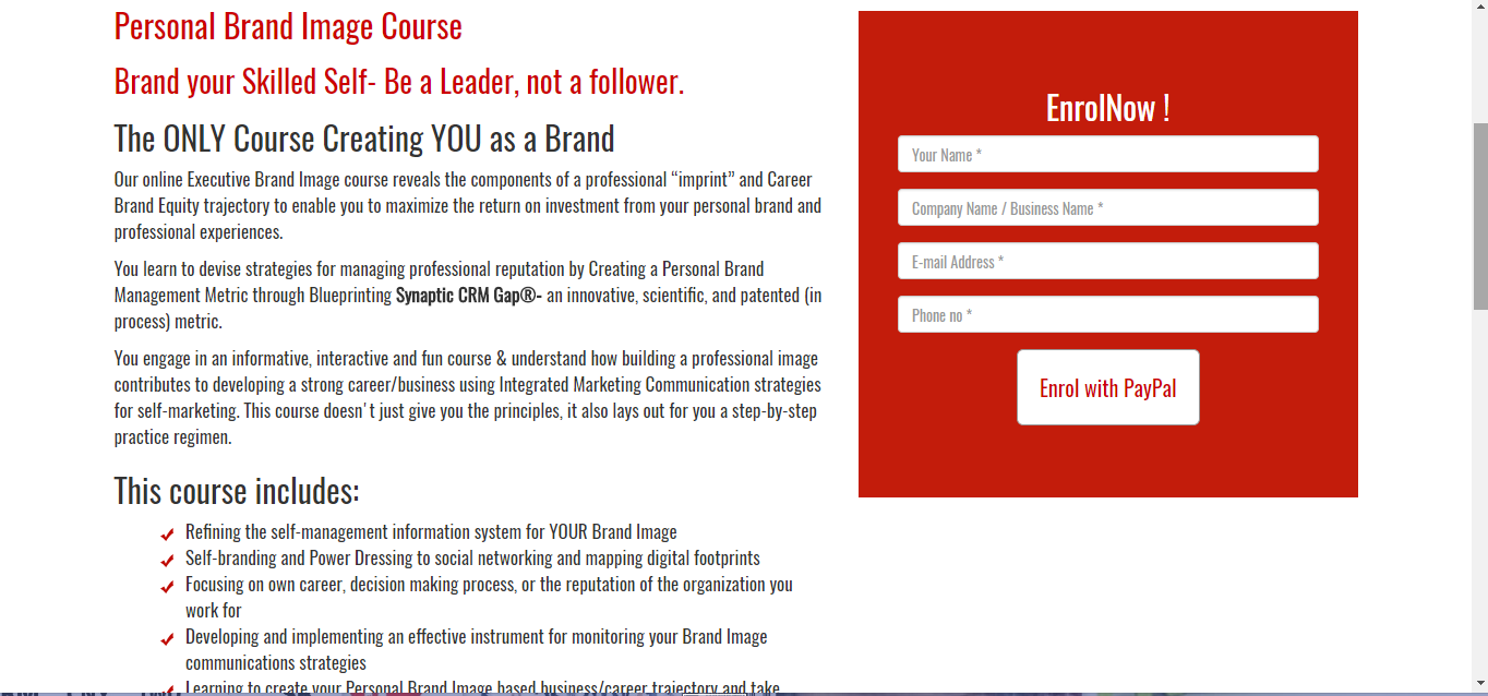 "Brand Experts Launch An Innovative Executive Certification- ""You As A Brand"""