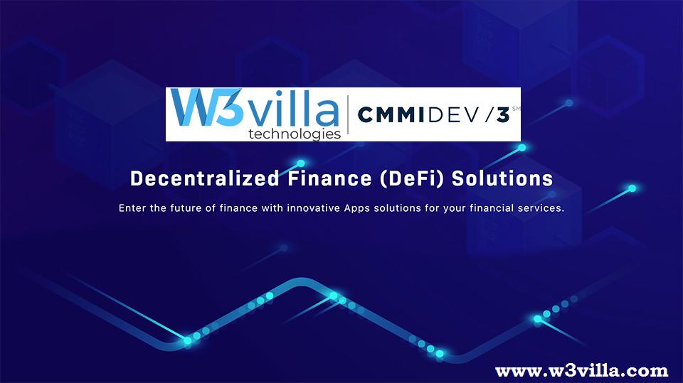 W3villa Announces the addition of DeFi in its development and consultation service list