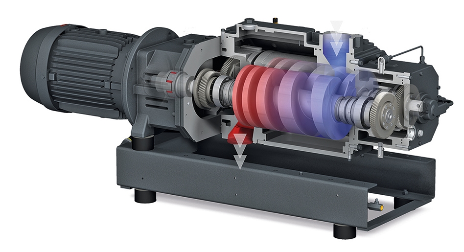 Dry vacuum technology for chemical and pharmaceutical processes