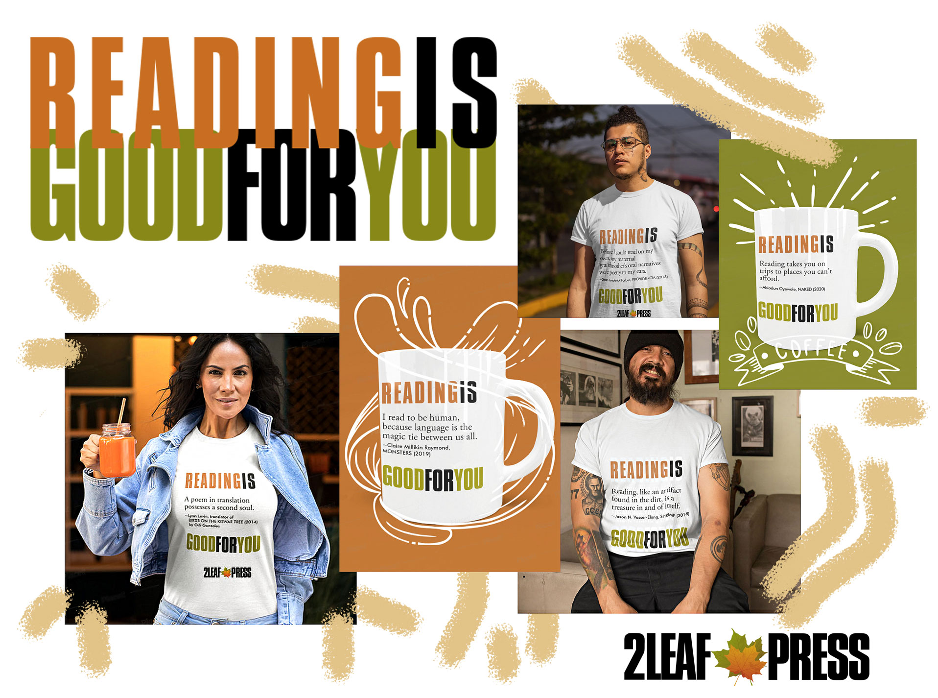 2Leaf Press launches merchandise with its new collection, READING IS GOOD FOR YOU
