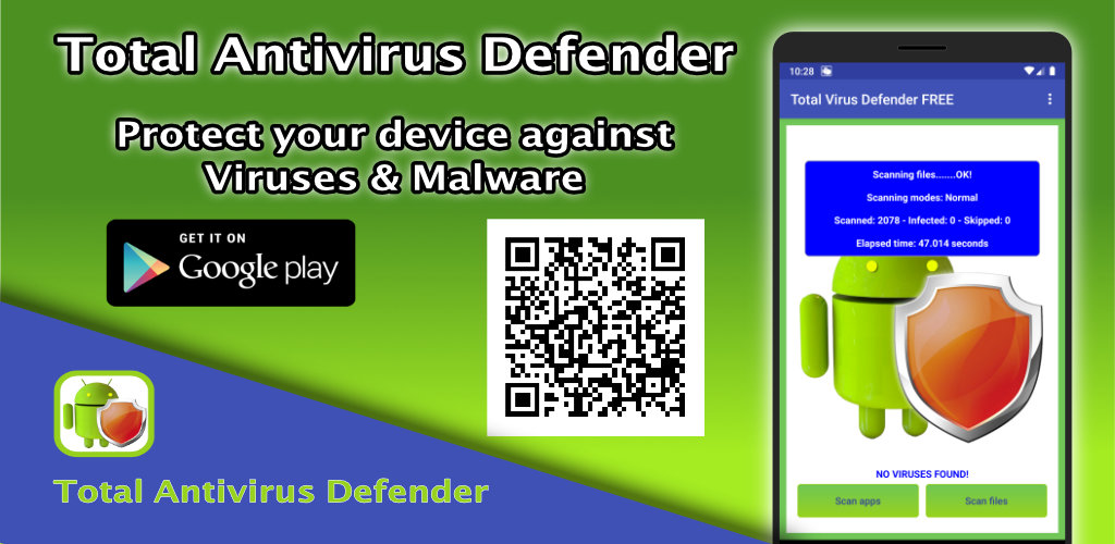 Total Antivirus Defender FREE for Android: the popular antivirus for smartphones and tablets has been updated to 2.6.1